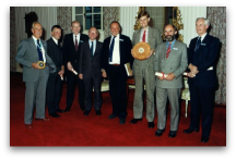 Jack Dawson with Julian Harrap and others and aTimber Award.