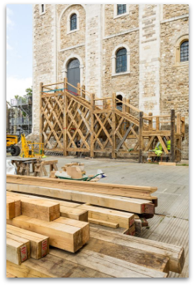 White Tower stair construction at the Tower of London